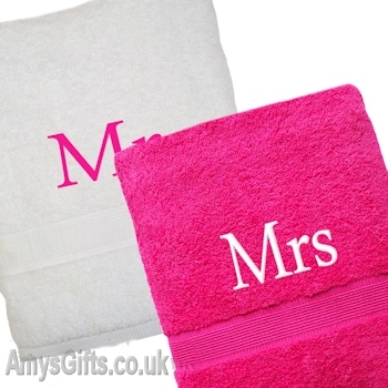 Pink and White Towels