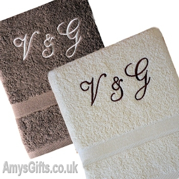 Bath Sheets Brown and Cream Gift Set
