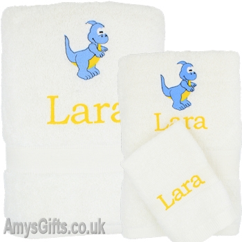 3pc Childrens Personalised Bath Towels
