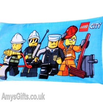 Lego City Beach Towel