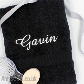 Black Bath Towel