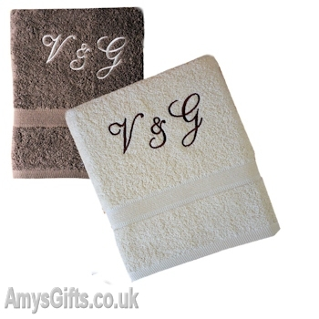 Brown and Cream Hand Towel Set