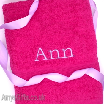 Fushia Pink Bath Towel