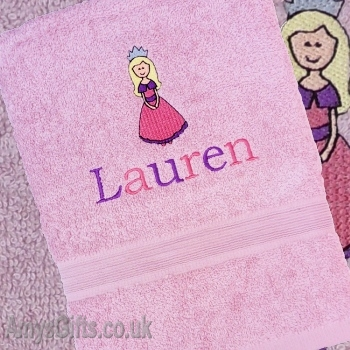 Personalised Princess Towel