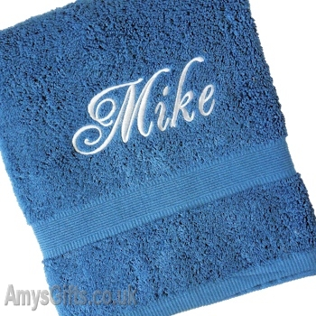 Electric Blue Egyptian Cotton Towel