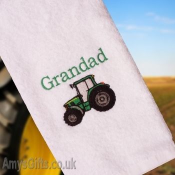 Personalised Tractor Embroidered Towel