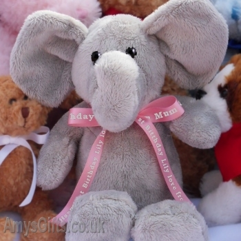 Printed Pink Ribbon Elephant