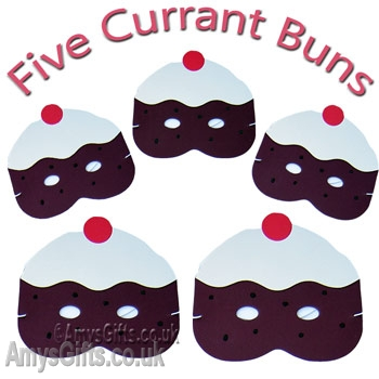 Masks 5 Currant Buns Counting Play Mask Song Set