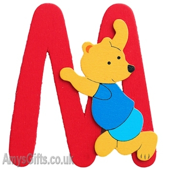 Wooden Letters M Personalised Initial